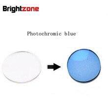 Siêu Chất Lượng Rx Ống Kính 1.56 Photochromic Xanh Dương HMC UV AR CR39 Nhựa Kính Mắt Đơn Thuốc Ống Kính Chỉ Cho Cận Thị/Loạn Thị