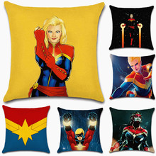 Movie comic cartoon super hero captain Pillow Case Cushion Cover Sofa chair Decoration for home friend gift kids girl present deadpool movies comic printed cushion cover party decoration for home house sofa chair seat pillow case kids gift friend present