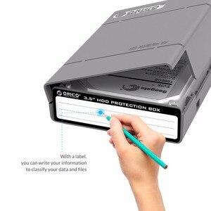 Image 5 - Orico אפור 3.5 אינץ HDD הגנת תיבת (5 יח\חבילה) דיסק קשיח תג מקרה עם אקו PP חומר הגנה על דיסק כונן מקרה