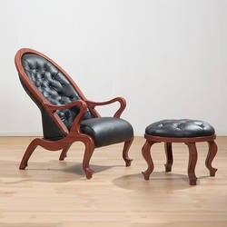 Элегантный античный дизайн стулья Винтаж мебель костюмы подходит для гостиной твердой древесины кресло и ног спальня диваном