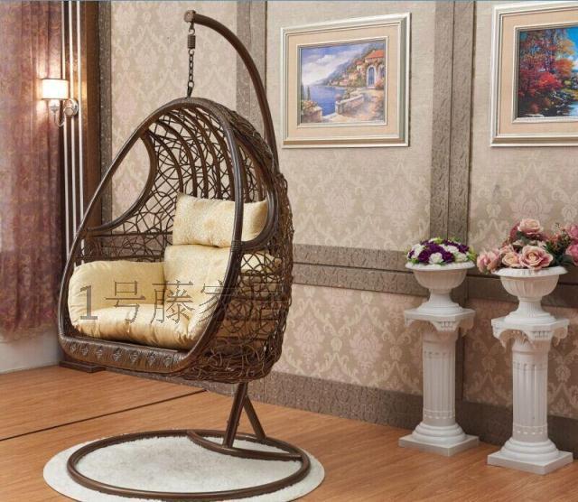Rattan Basket Swing Hanging Chair Indoor Full Manual Preparation Of