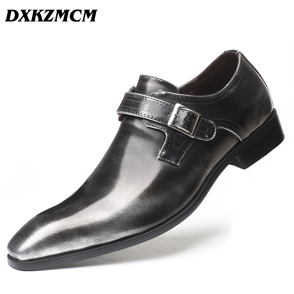 2019 Men Dress Shoes Formal Wedding Men Leather ShoesBritish Style Business Office Oxfords For Men