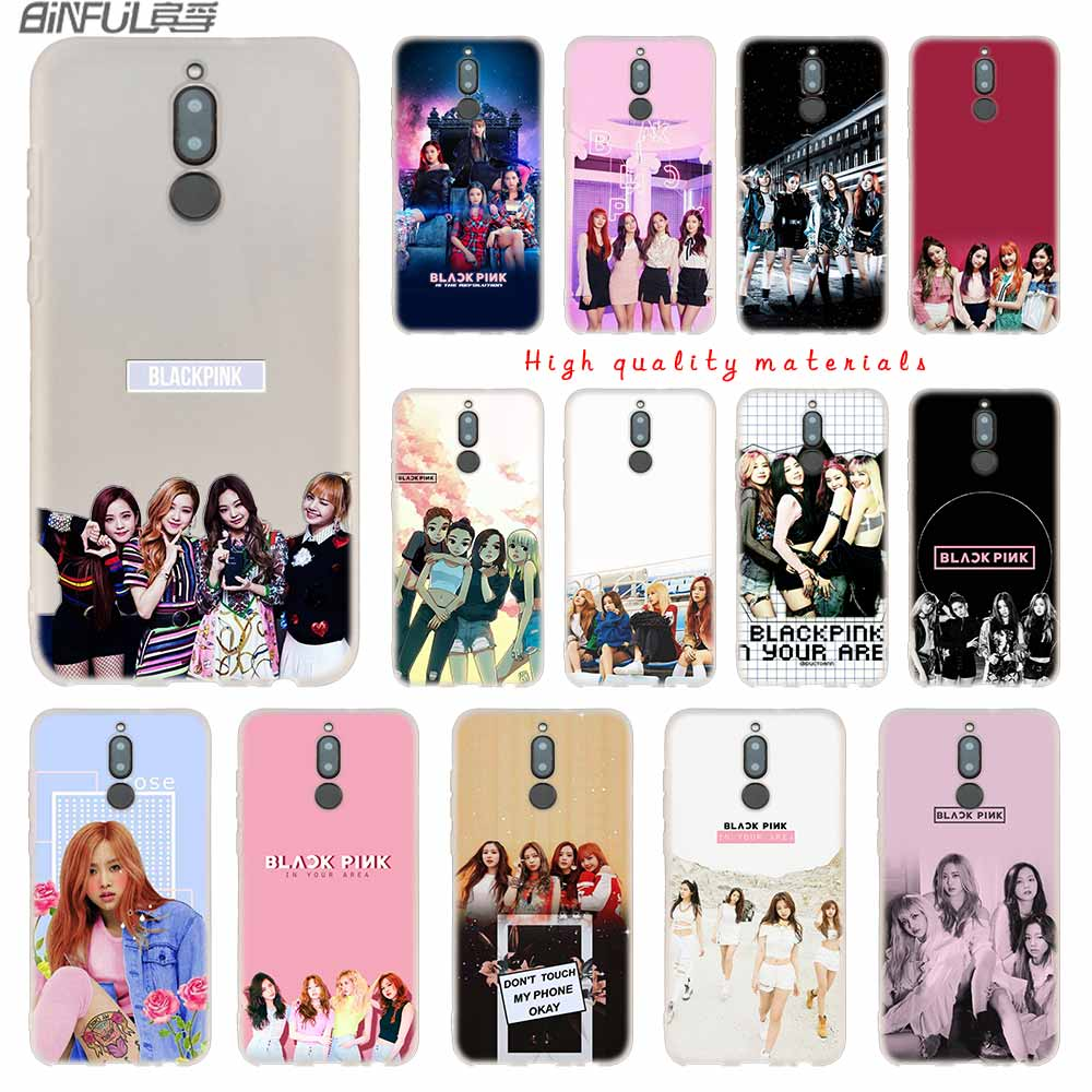 Kpop Blackpink Black Pink Cover Soft Silicone Cases For Huawei Mate 10 Lite 10 20 Lite Pro 20x S Y5 2017 Y9 2018 2019 Nova 3 4 Fitted Cases Phone Bags & Cases