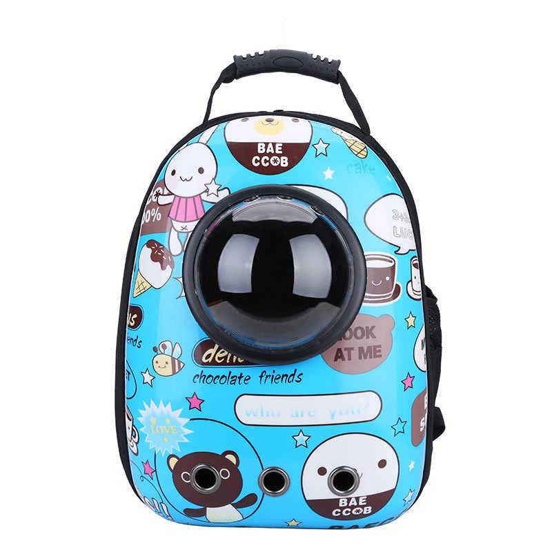 BarkMeow ใหม่แฟชั่นแมว Pet Space Capsule กระเป๋าเป้สะพายหลัง Angel กระเป๋าเป้สะพายหลัง Stripe ความคงทนหายใจได้อย่างอิสระสำหรับเดินทาง 43*30*22 ซม. BM004
