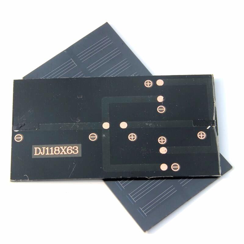 высокое качество солнечных батарей 0.8 вт 5.5 в монокрис кремния пэт солнечной панели, ламинат солнечных батарей для DIY зарядное 118 х 63 мм бесплатная доставка доставка