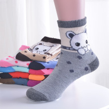 6 Pair/lot New Soft Cotton Boys Girls Socks Cute Cartoon Pattern Kids For Baby Boy Girl 7 Kinds Style Suitable 4-15Y