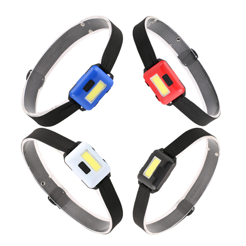 Image 2 - SANYI 2000 LM Mini Headlight Flashlight 3 Modes Head Torch Powered by 3*AAA Battery COB LED Super Bright Headlamp for Camping-in Headlamps from Lights & Lighting