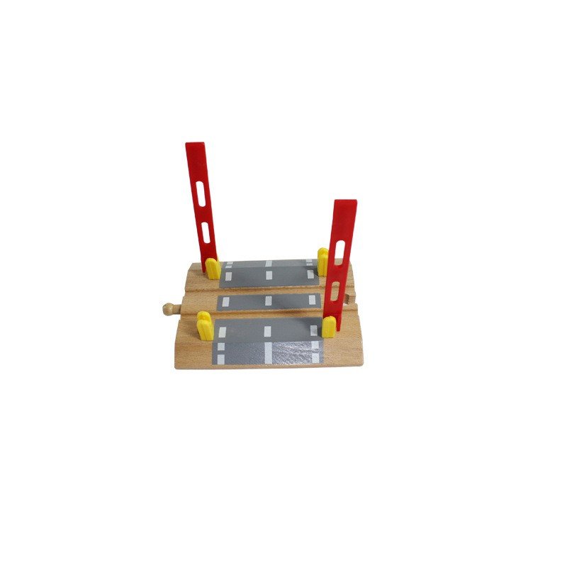 EDWONE Railroad Crossing Intersection Cross Slot Wooden Railway Train  Circular Track Accessories fit for Thomas Biro