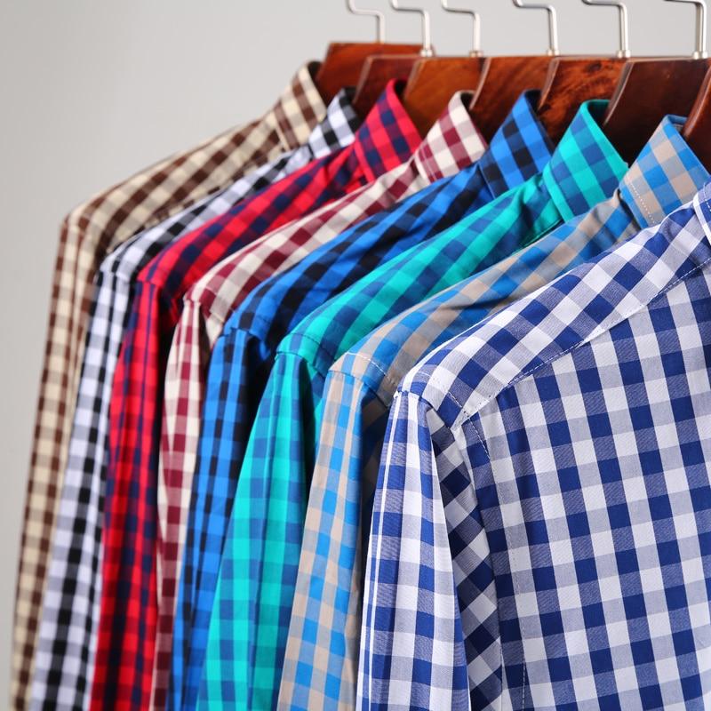 Casual Plaid Shirt 100%cotton Flannel Brand men high quality  1