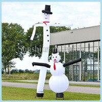 Christmas inflatable snowman air dancer sky dancer inflatable snowman for sale