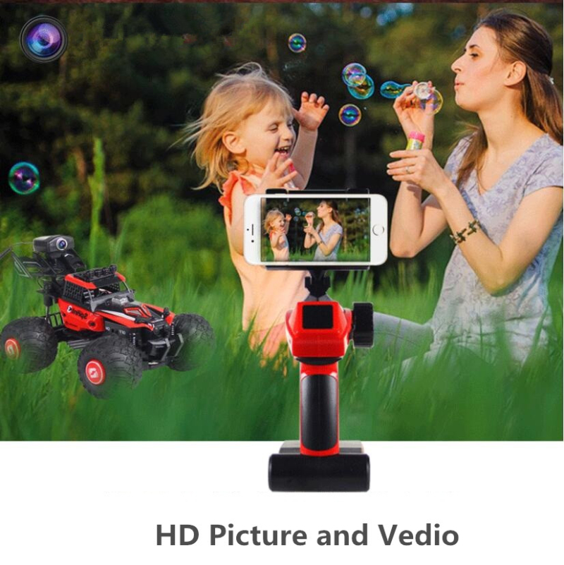 Vedio WIFI FPV Racing RC Car 2.4GHz 4WD RC DIY Assembly Car FPV 480P Camera WiFi Car APP Control Independent Suspension System