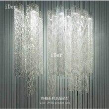 Современный светодиодный хрустальный светильник для прохода, светильник s, коридор, входная дверь, зал, домашний подвесной светильник диам. 8 x H 60-160 см