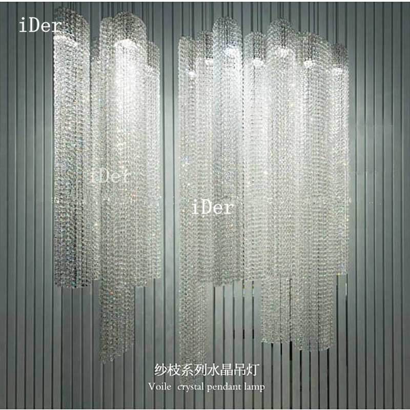 Modern Led crystal lamp aisle lights corridor entrance  door hall home Pendant Light Dia 8 x  H 60-160cm egypt imported crystal 8 light pendant lights in ball shape chrome pl1040