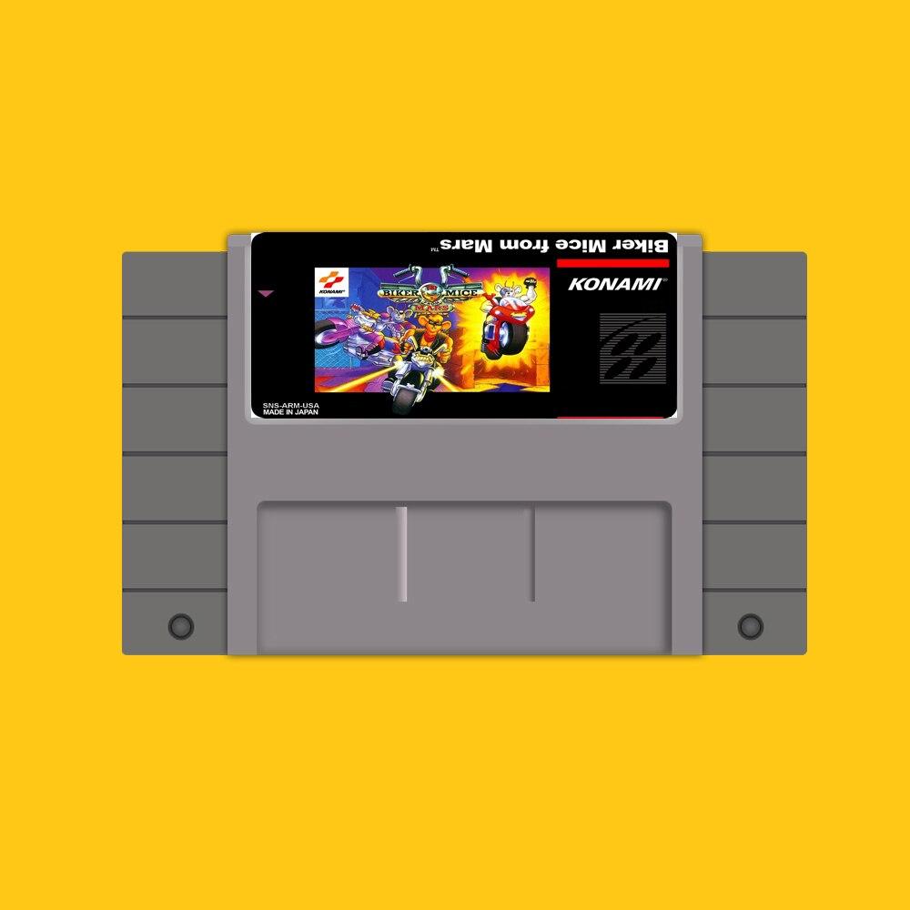 Biker mäuse von mars 16 Bit Game Card Für USA NTSC Spiel Player