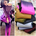 10pcs/lot Wholesale 120D Sexy Women Tights Ladies Candy Color Velvet Gradient Pantyhose Stockings Free Size