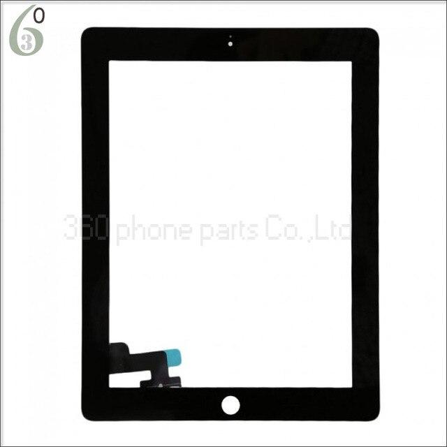 100% Гарантия сенсорный экран Стекла digitizer замена для iPad 2 ipad 2 digitizer + 3 М Лента Черный или Белый