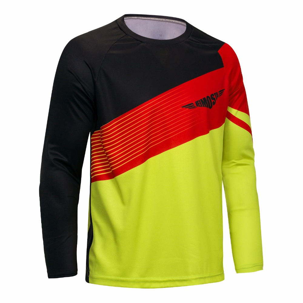 57366473b Men Motocross MX jersey Mountain Bike DH Clothes Bicycle Cycling MTB BMX  Jersey Motorcycle Cross Country shirts