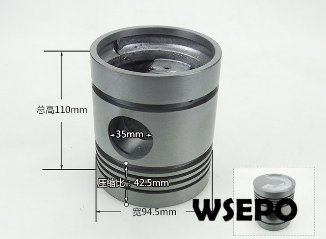 OEM Quality! Piston only for S195 4 Stroke Small Water Cooled Diesel EngineOEM Quality! Piston only for S195 4 Stroke Small Water Cooled Diesel Engine