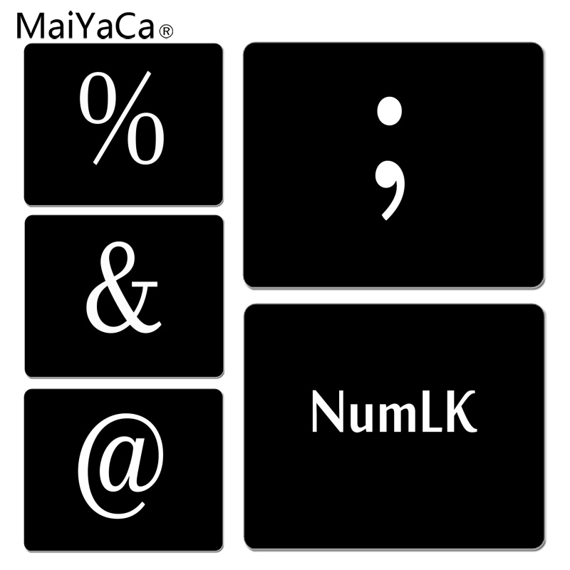 MaiYaCa Funny Keyboard symbol DIY Design Pattern Game mousepad Size for 180x220x2mm and 250x290x2mm Small Mousepad