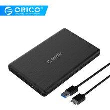 ORICO 2,5 дюймовый корпус HDD USB3.0 MicroB внешний жесткий диск Корпус высокоскоростной корпус для 7 мм SSD Поддержка UASP SATAIII 2578U3