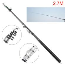 2.7m/3.6m/4.5m/5.4m Telescopic Rock Carp Fishing Rod 5/7/8/10 Sections Carbon Fiber Surf Spinning Pole gw top dia 1 7 mm shrink length 107 cm carbon rock fishing rod 5 6 7 sections fishing weight 2 3kg telescopic fishing rod