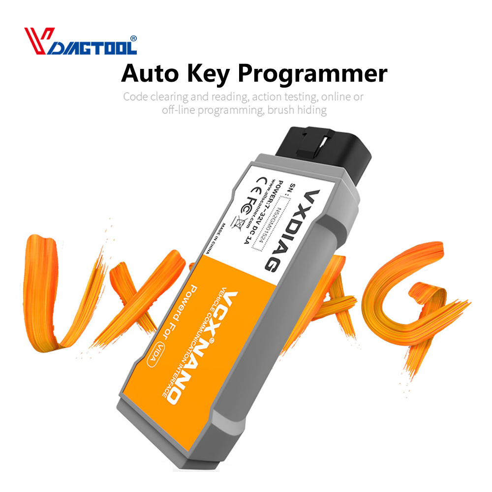 VXDIAG VCX NANO Support For Volvo Car Key Programmer With Multi language Fit For Volvo Vida Dice 2014D Scanner