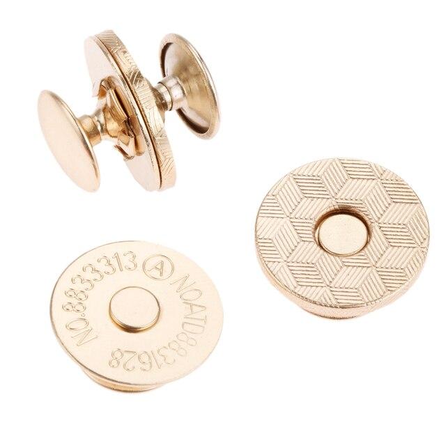 10x Botones Snap Bolso Magnético con remaches tachonados de Cartera Bolso de Mano Broche Plata 18mm