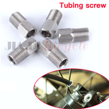 5PCS MTB Bicycle Oil Brake Tubing Screw Hollow Bolts Stainless Steel Disc High Pressure Fastening