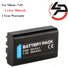High Quality 980mAh Brand New Replacement Battery For Nikon EN-EL1 ENEL1 NP800 NP-800 E880 775 4300 4500 4800 5000 5400 5700