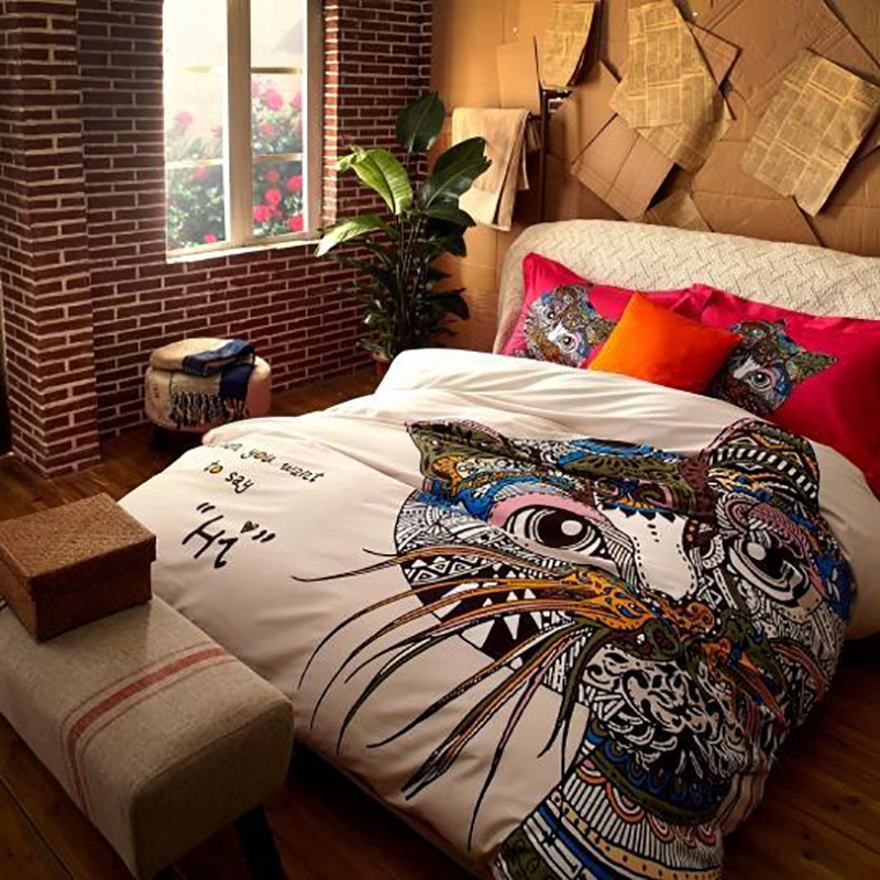 Good Quality Egyptian Cotton Duvet Cover Queen Size Bed Linen Personalized Sheets King Quilt Sets Cartoon