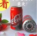 Mini teléfono venta caliente realista deary lata Corded Telephone teléfono teléfonos de casa telefone fixo fixe sans fil