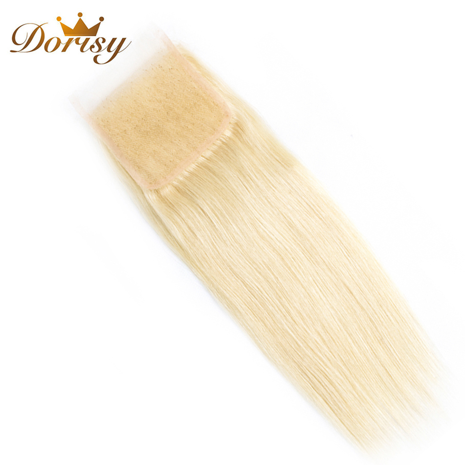 Dorisy Hair 1 Pcs 10-20 Inch 4*4 Swiss Lace Remy Hair Extension 100% Human Hair Peruvian ...