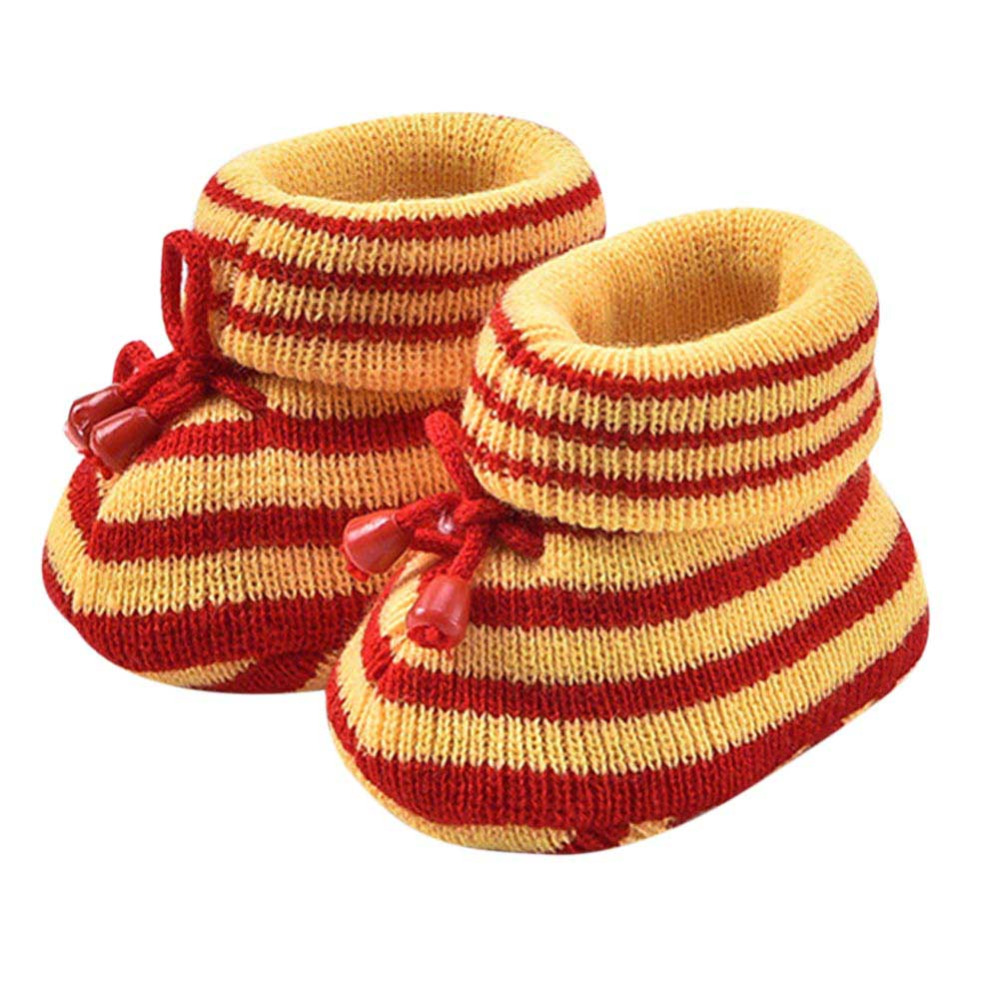 Baby Shoes First-Walker Anti-Slip Toddler Girls Autumn Boys Winter High-Ankle Warm Striped