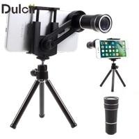 DULCII Universele 10X Telescoop Optische Zoom Lens voor Mobiele Telefoon Camera met Statief Smartphone Tele Len
