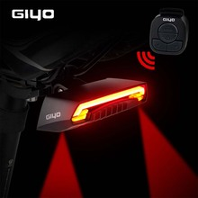 USB Rechargeable Bicycle Light LED Taillight Remote Control Turn Signal Warning Light Flash Mode Bike Rear Light Bike Back Light стоимость