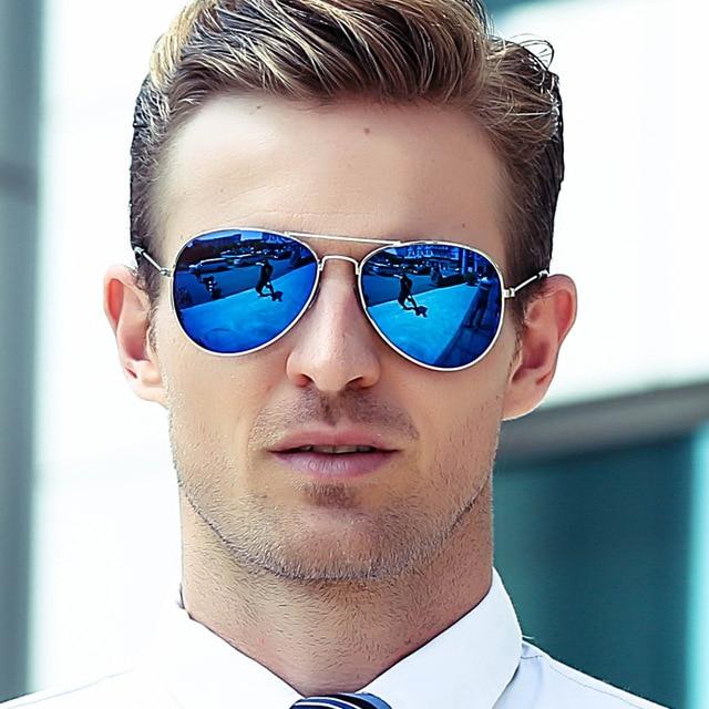 2018 משקפי שמש גברים של בציר משקפי שמש גב 'מסגרת בוהק טייס תעופה משקפי שמש 19 צבע נהיגה משקפיים