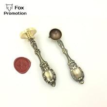 ปรับแต่ง Wax Stamp ส่วนบุคคลโลโก้ vintage โลหะช้อน, DIY โบราณซีลแสตมป์ย้อนยุค, ส่วนบุคคล Wax Seal ออกแบบที่กำหนดเอง