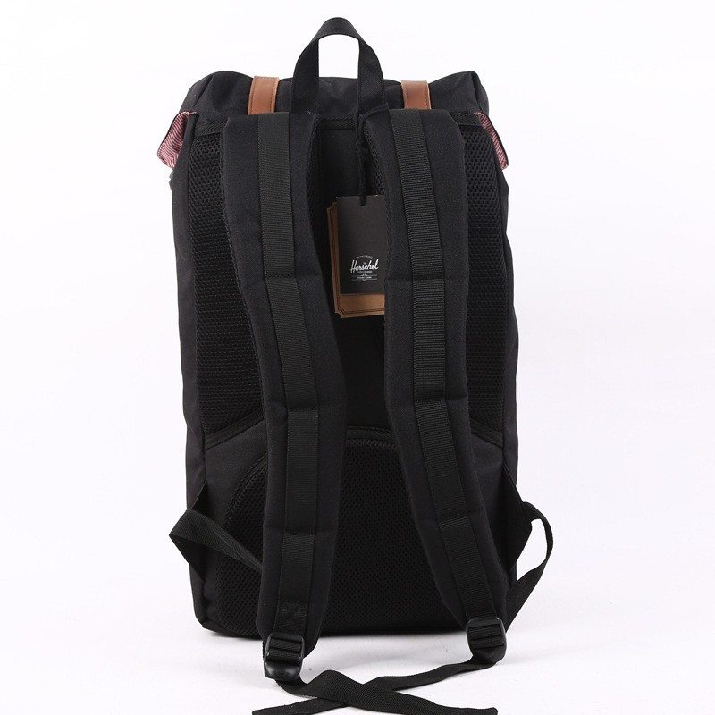 23.5L large Herschel Backpack Black Heritage Brand Men Women laptop ... 61556d8461285