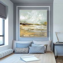 Handmade Modern Oil Painting Abstract Paintings wall Picture On Canvas Wall For Living Room modern Seascape oil painting