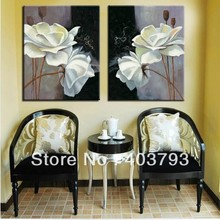 modern flowering oil painting on canvas of for decoration  Free shipping