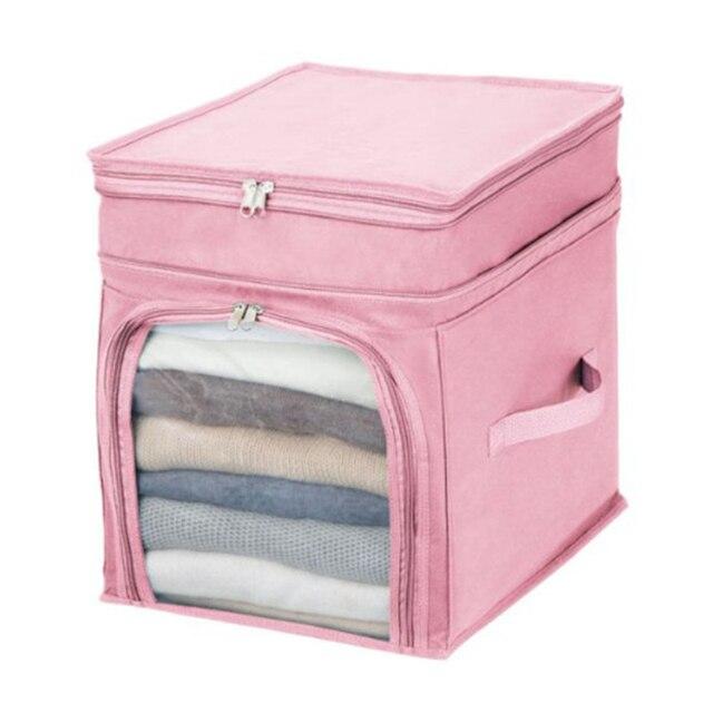 Горячие Продажи Сумка Для Хранения Box Прочный Портативный Организатор Нетканые Underbed Сумка Для Хранения Box Bamboo для Одежды 2 Цветов-42