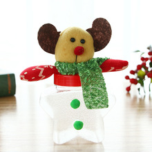 Christmas Snowman Plastic Candy Container Decorative Candy Jars Holiday Decor Christmas Gift Santa Claus Snowman Tree Toy Doll baked doll christmas candy party dress