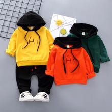 hot deal buy zwxlhh 2019 spring new toddler infant clothes suits baby boys girls clothing sets hooded t shirt pants kids children costume