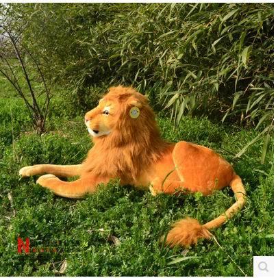 Free Shipping 2019 Popular Good Quality Lion  Tiger Dog  Stuffed Doll Plush  Simulation  Animal TOYS 20cm-30cm On Sale