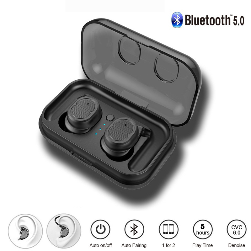 XK87 ipx5 Waterproof TWS True Wireless Stereo Bluetooth 5 0 Earphones Touch Control With Charging Case