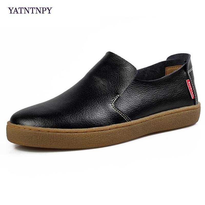 YATNTNPY Fashion Men Casual Shoes Soft Genuine Slipt Leather Man Shoes Comfortable platform Loafers man slip-on sneaker Moccasin top brand high quality genuine leather casual men shoes cow suede comfortable loafers soft breathable shoes men flats warm
