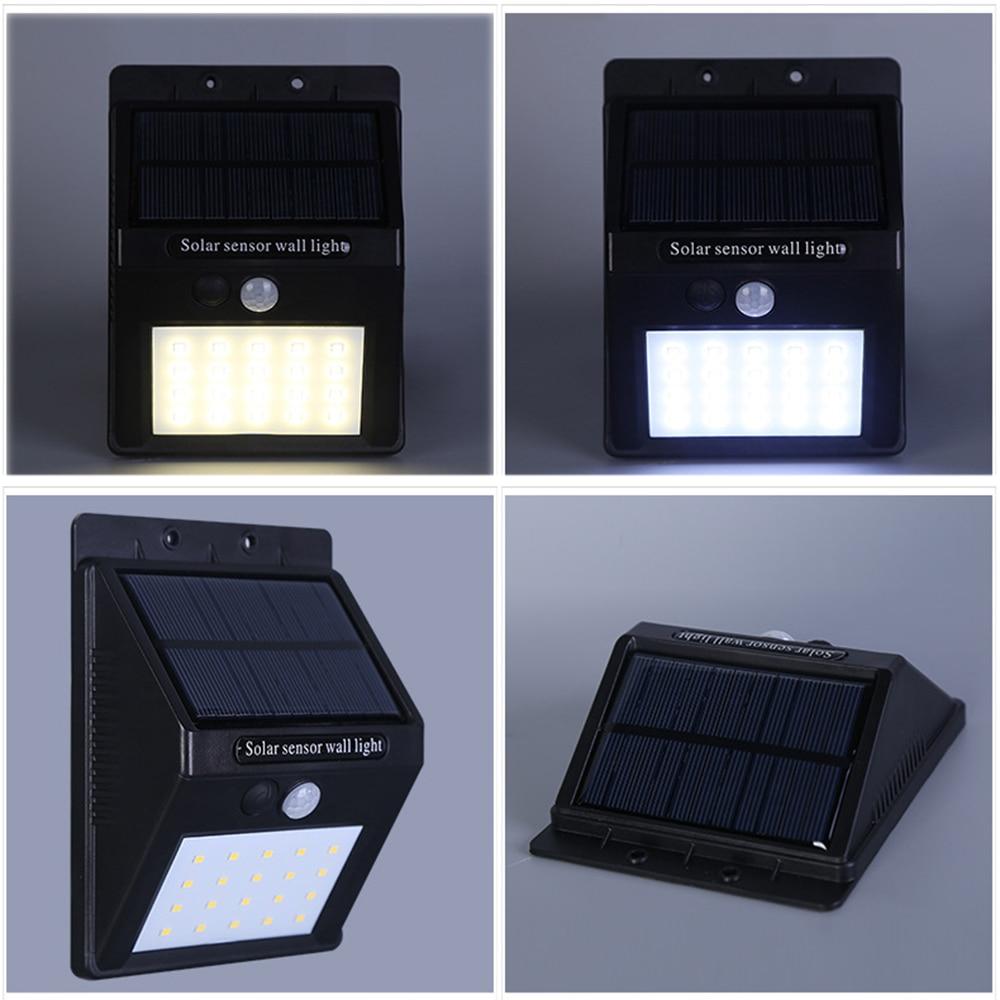 Outdoor Solar Lamp Waterproof PIR Motion Sensor Wall Light 8/16/20 LED Solar Power Light Energy Saving Garden Security Lamp