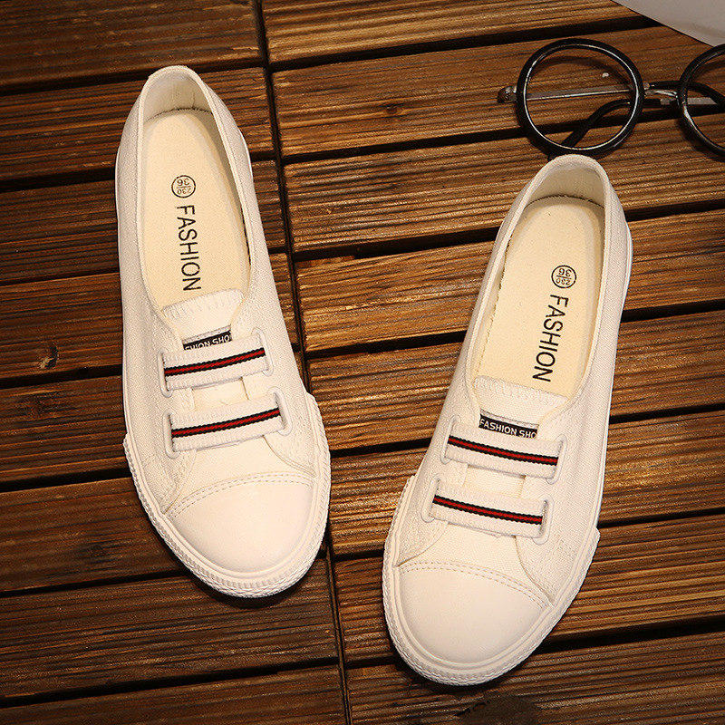 Women Shoes Summer 2018 New Fashion Women's Vulcanize Shoes Classic Canvas Shoes Female Casual Solid White Sneakers Basket Femme