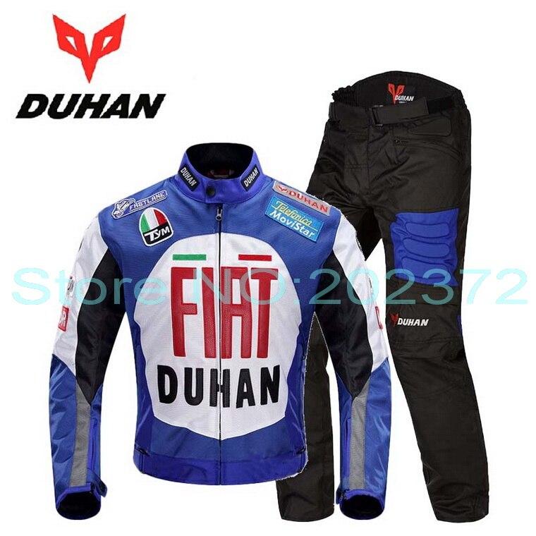 2016 nouveau DUHAN moto costumes de course ensemble moto cross moto veste de vélo pantalon moto vélo équitation vêtements pour automne hiver weaterprooof