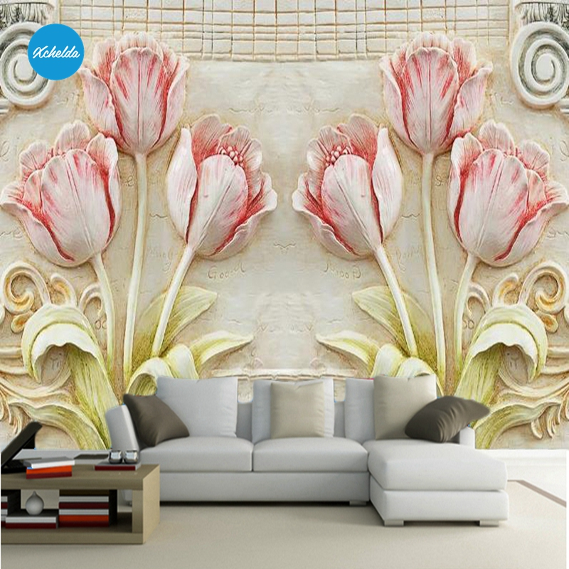 XCHELDA Custom 3D Wallpaper Design 3D Flower Photo Kitchen Bedroom Living Room Wall Murals Papel De Parede Para Quarto kalameng custom 3d wallpaper design street flower photo kitchen bedroom living room wall murals papel de parede para quarto
